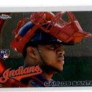 Carlos Santana RC Trading Card Single 2010 Topps Chrome #198 Indians