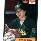 Barry Zito Trading Card Single 2001 Fleer Tradition #250 Athletics