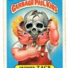 Unzipped Zack Sticker 1986 Topps Garbage Pail Kids #132b
