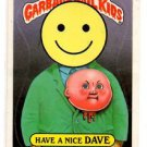 Have A Nice Dave Sticker 1987 Topps Garbage Pail Kids #278a Single Star NMMT