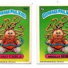 Wriggley Rene Curly Carla Sticker 1986 Topps Garbage Pail Kids #130a 130b