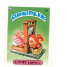 Cindy Lopper License Back Sticker 1985 Topps Garbage Pail Kids UK Mini 37b