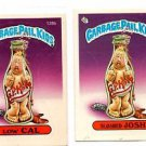 Sloshed Josh Low Cal Sticker 1986 Topps Garbage Pail Kids #128a #128b NMT