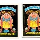 Cheap Jewel Pierced Paul Sticker Lot 1986 Topps Garbage Pail kids #226a 226b