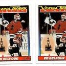 Ed Belfour Trading Card Lot of (2) 1991-92 OPC #519 Blackhawks