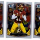 Robert Griffin III Trading Card Lot of (3) 2014 Bowman Chrome #23 Redskins