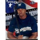 Bill Hall Trading Card Single 2002 Donruss Studio #121 Brewers