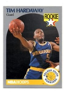 Tim Hardaway RC Trading Card Single 1990 Hoops #113 Warriors