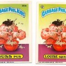 Russ Puss Louise Squeeze Lot (2) 1987 Topps Garbage Pail Kids #253b #253a