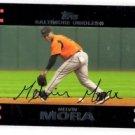 Melvin Mora Trading Card Single 2007 Topps Red Back #181 Orioles