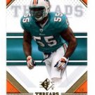 Joey Porter Trading Card Single 2009 UD Threads #51 Dolphins