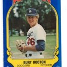 Burt Hooten Trading Card Single 1981 Fleer Star Sticker #61 Dodgers
