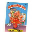 Swell Mell License Back Sticker Card 1985 Topps Garbage Pail Kids UK Mini #21a