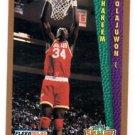 Hakeem Olajuwon Slam Dunk Trading Card 1992-93 Fleer #294 Rockets