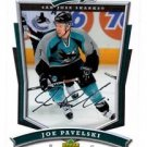 Joe Pavelski Trading Card Single 2007-08 UD MVP #271 Sharks