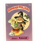 Haggy Maggie License Back Sticker 1985 Topps Garbage Pail Kids UK Mini #16b