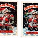 Chris Mess Sandy Clod Trading Card Lot 1987 Topps Garbage Pail Kids 254a 254b