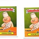 Chopped Chad Sushi Seth Lot 2013 Topps Garbage Pail kids Minis #9a #9b