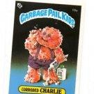 Corroded Charlie License Back Sticker 1985 Topps Garbage Pail Kids UK Mini #19a