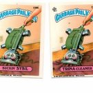 Trina Cleaner Suckin' Sybil Sticker Lot 1986 Topps Garbage Pail Kids #236a 236b