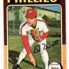 Eddie Watt Trading Card Single 1975 Topps #374 Phillies EX+