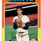 Jim Barr Trading Card Single 1975 Topps #107 Giants VG