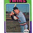 Danny Thompson Trading Card Single 1975 Topps #249 Twins EXMT
