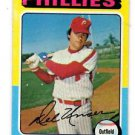 Del Unser Trading Card Single 1975 Topps #138 Phillies VG