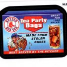 Tea Party Bags Wacky Packages Insert 2016 Topps #MLBW5 Red Sox
