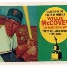 Willie McCovey Berger's Best Insert 2016 Topps #BB9 Giants
