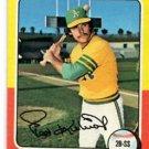 Ted Kubiak Trading Card Single 1975 Topps #329 Athletics EX+