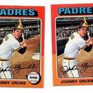 Johnny Grub Trading Card Single 1975 Topps #298 Padres EXMT