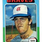 Vic Correll Trading Card Single 1975 Topps #177 Braves VGEX