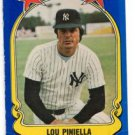 Lou Pinella Trading Card Single 1981 Fleer Star Sticker #45 Yankees NMT