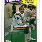 Anthony Carter Trading Card Single 1987 Topps #202 Vikings NMT