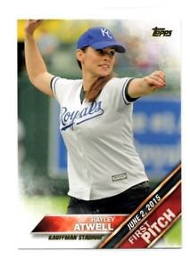 Hayley Atwell First Pitch Trading Card Single 2016 Topps #FP14 Royals