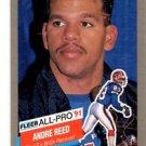 Andre Reed Trading Card Single 1991 Fleer All Pro #1 Bills