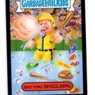 Spitting Spalding Black Parallel SP 2015 Topps Garbage Pail Kids #64a