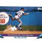 Roberto Alomar Trading Card Single 1993 Topps #50 Blue Jays