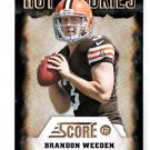 Brandon Weeden Hot Rookies Trading Card Single 2012 Score #8 Browns