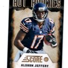 Alshon Jeffery Hot Rookies Trading Card Single 2012 Score #26 Bears