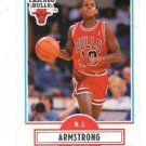 B.J. Armstrong RC,Trading Card Single 1990-91 Fleer #22 Bulls