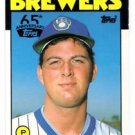 Dan Plesac Black Buyback Insert 2016 Topps #87T 1986 Traded Brewers