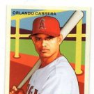 Orlando Cabrera Trading Card Single 2007 UD Goudey Mini #168 Angels