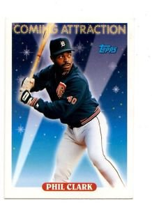 Phil Clark Trading Card Single 1993 Topps 802 Tigers