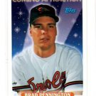 Brad Pennington Trading Card Single 1993 Topps 494 Orioles