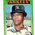 Rudy May Trading Card Single 1975 Topps #321 Yankees EX+