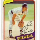Sal Bando Trading Card 1980 Topps #715 Brewers NMT