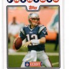 Tom Brady Trading Card Single 2008 Topps Kickoff #111 Patriots