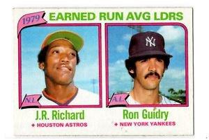 JR RIchard Ron Guidry Trading Card Single 1980 Topps 207 LL NMT